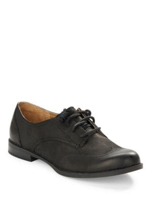 Devon Leather Lace-Up Oxfords – Black by Sperry