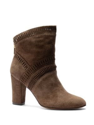 Evoda Lasercut Suede Ankle Boots by Isola