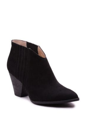 Addie Nubuck Leather Ankle Booties by Splendid