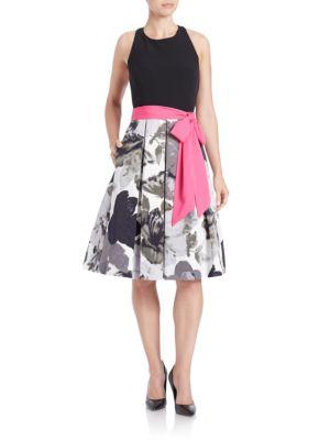 Open Back Pleated Dress by Eliza J