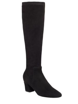 Cyera Suede Knee-High Boots by Delman