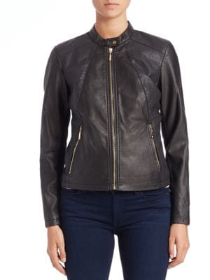 Faux-Leather Moto Jacket by Ivanka Trump