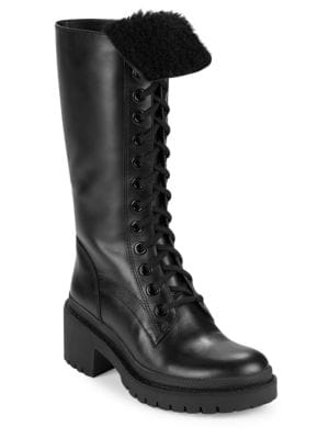 Leigh Shearling-Lined Leather Boots by Marc Jacobs