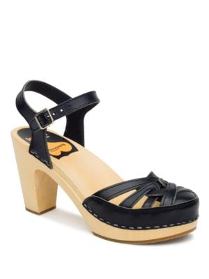 Agneta Leather Platform Sandals by swedish hasbeens