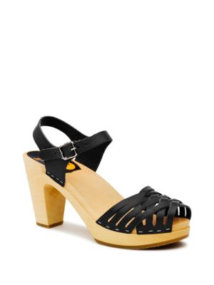 Braided Platform Sandals by swedish hasbeens