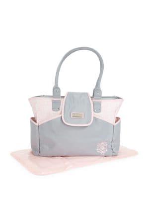 Damask Pink Diaper Bag