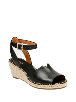 Clarks Artisan Petrina Selma Full Grain Leather Wedge Espadrilles by Clarks