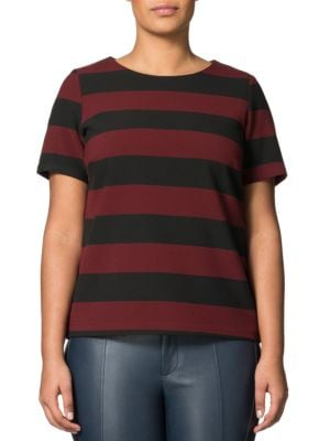 Olary Striped Jersey Top by Carmakoma Plus