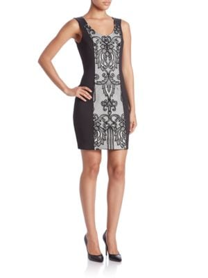 Lace-Front Sheath Dress by Guess