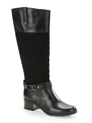 Cabbey Quilted Riding Boots by Bandolino