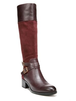 Lapis – Wide Calf Leather Boots by Franco Sarto