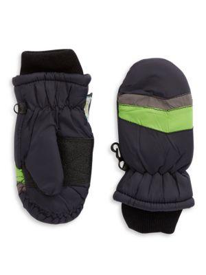 Striped Ski Gloves
