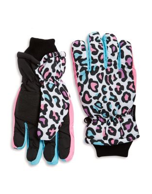 Thinsulated Leopard Print Gloves