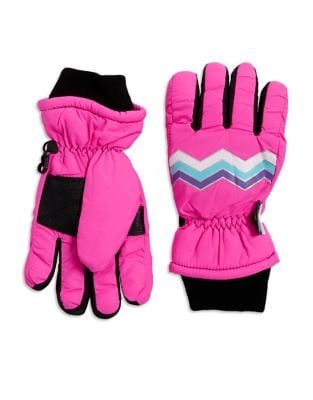 Thinsulated Zigzag Print Gloves
