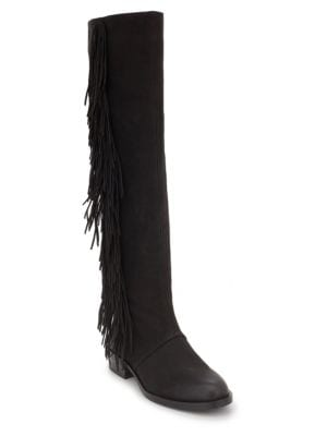Josephine Suede Knee-High Fringed Boots by Sam Edelman