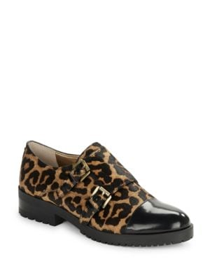 Melanie Leopard-Print Brahman Hair Exfords by Sam Edelman
