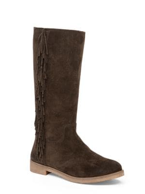 Grayer Fringed Suede Boots by Lucky Brand