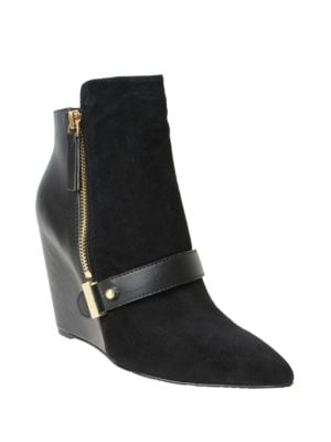 Avery Suede Wedge Booties by William Rast