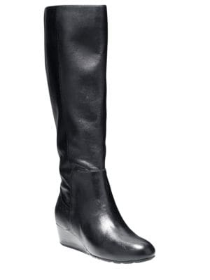 Tali Grande – Wide Calf Leather Boots by Cole Haan