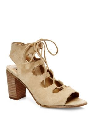 Nilunda Suede Lace-Up Sandals by Steve Madden