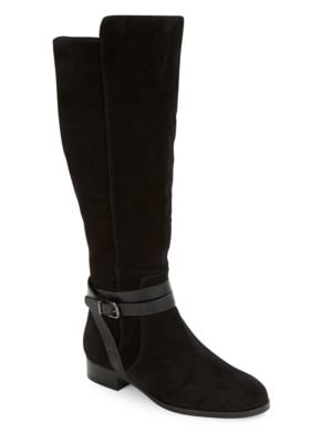 Prish Suede Riding Boots by Via Spiga