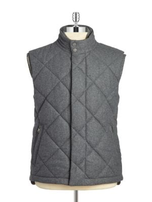 Quilted Wool Puffer Vest...