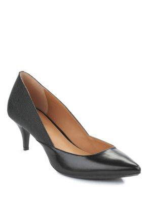 Patna Leather Pumps by Calvin Klein
