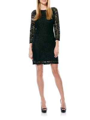 Lace Sheath Dress by Laundry by Shelli Segal