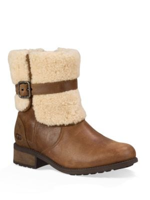 Blayre II Shearling Cuff Suede Boots by UGG