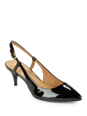 Patsi Leather Slingback Pumps by Calvin Klein
