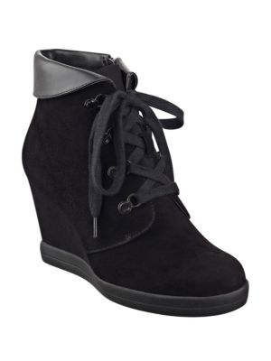 Joely Suede Lace-Up Wedges...