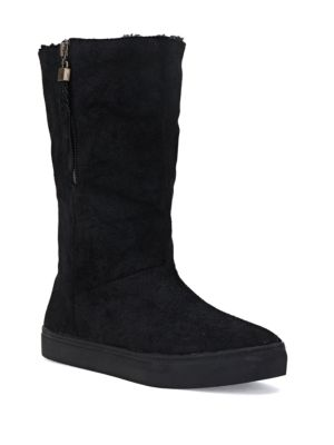 Prima Suede and Sherpa-Lined Boots by Elliott Lucca