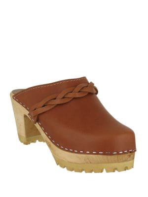 Elsa Leather Clogs by Mia