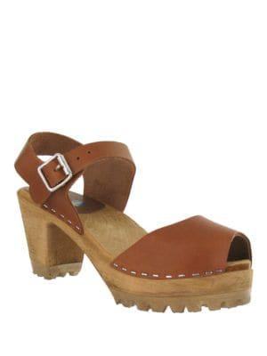 Greta Leather Clog Sandals by Mia