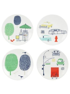 About Town FourPiece Tidbits Plate Set