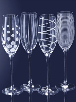 Cheers Glass Flute Set of 4