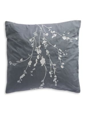 Embroidered Floral Pillow 500086626975