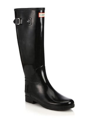 Refined Tall Gloss Rain Boots by Hunter