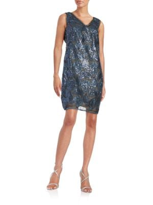 Floral Overlay Sheath Dress by julia jordan