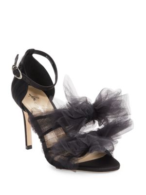 Gigi Mesh Ruffled Pumps by Isa Tapia