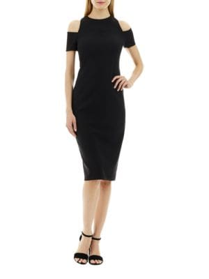 Cold-Shoulder Bodycon Dress by Nicole Miller New York
