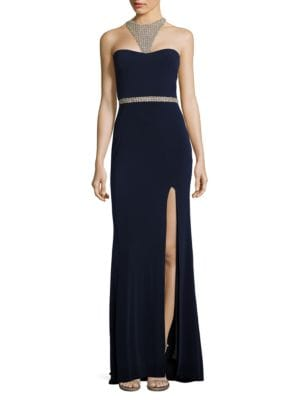 Terani Couture Embellished Choker Gown by Glamour by Terani Couture