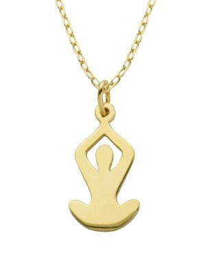 Sterling Silver Yogi Pendant Necklace 500086843763