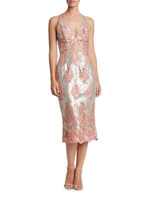 Angela Embroidered Lace Dress by Dress The Population