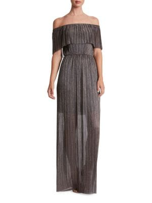 Athena Off-The-Shoulder Popover Gown by Dress The Population