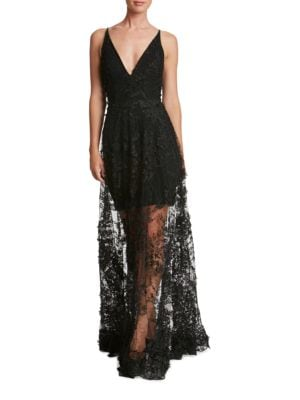 Sidney Lace Overlay Gown by Dress The Population