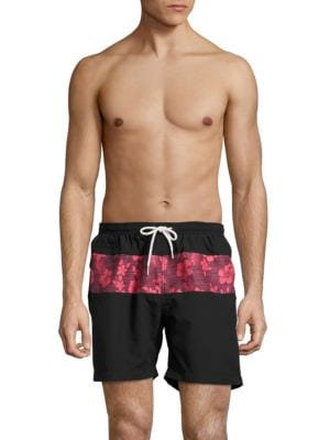 Hawaiian Stripe Swim Trunks by Trunks Surf + Swim