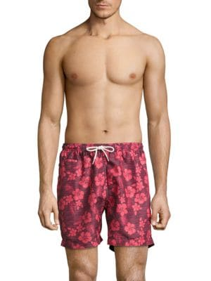 Hawaiian Patterned Swim Shorts by Trunks Surf + Swim