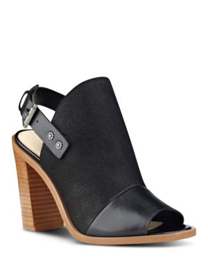 Pickens Peep Toe Leather Mules by Nine West