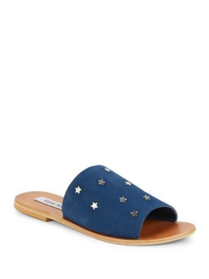 Denise Leather Slide Sandals by Steve Madden